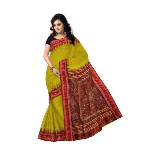 OSS5100: Olive green buti design Khandua silk saree