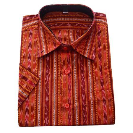 OSS8030: Deep Brown color readymade half Cotton Shirt (Size-42)