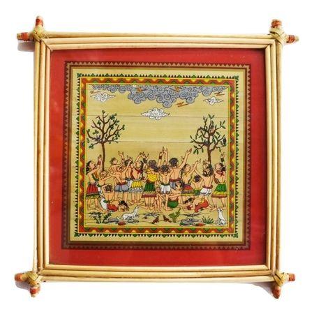 Patachitra Frame Painting Of Gokula Village Pipili, Odisha AJ001691