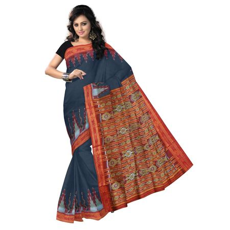 OSS9072: Black with Maroon Handwoven silk sarees for party wear