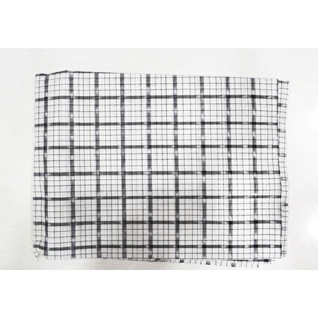 White Color Handloom Check Design Shirt Running Fabric Of Sambalpur, Odisha AJ001721