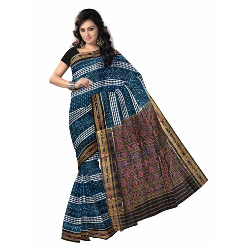 OSS1016: Blue color handwoven Odisha ikat saree
