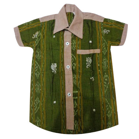 OSS8401: Boys Cotton handloom Shirt