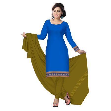 OSSTG6214: Sky Blue color handloom cotton salwar suit.