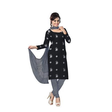 AJ000130: Beautiful Traditional Black and Grey (tie & dye) Cotton Bomkai Handwoven Ladies Dress Material