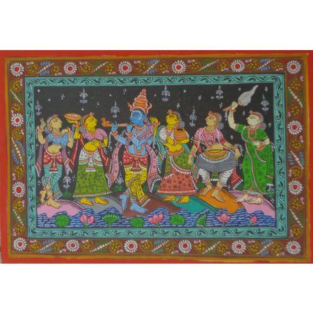 "OHP049: "" Lord Krishna"" dance with gopiyan in Brundaban."