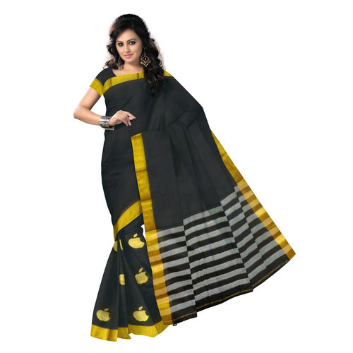OSSTG018: Elegant Black Beauty, Kanchi Cotton Saree