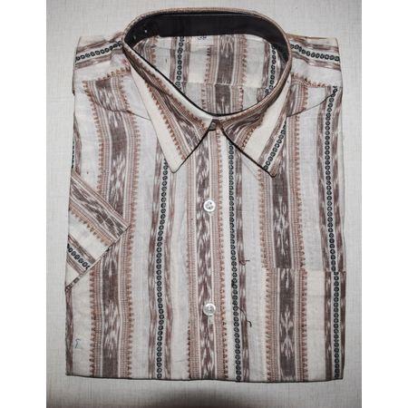 OSS3578: Sambalpuri Half Shirt made in cotton for office wear