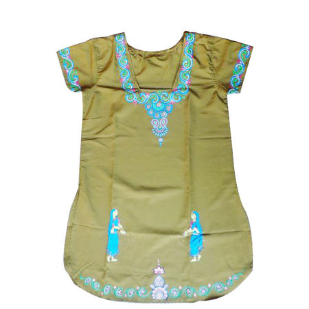 OSS300021: Ladies Handpainted patachitra design kurti for girls