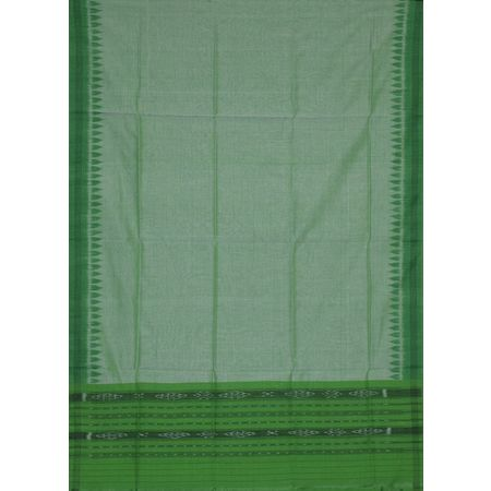 AJ001149: Deep Green with Light Green Handloom Ikat Unstiched Ladies cotton Dress Material