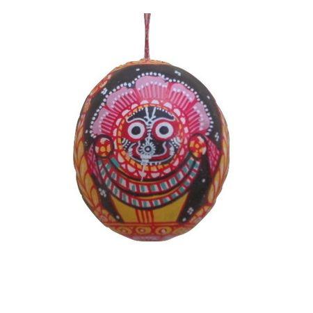 OHP044: Three deities Art was designed on coconut shell
