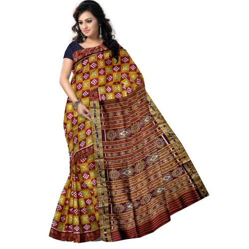 OSS5150: Mustard with maroon color Pure pasapalli Soft Silk Sarees