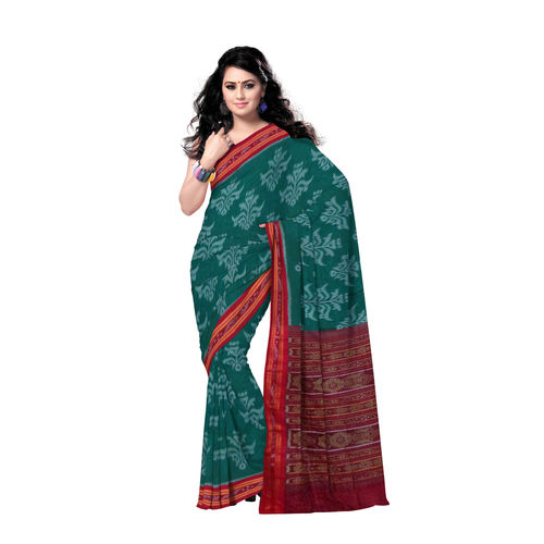 OSS151: Traditional Handwoven Flower Design Cotton Saree