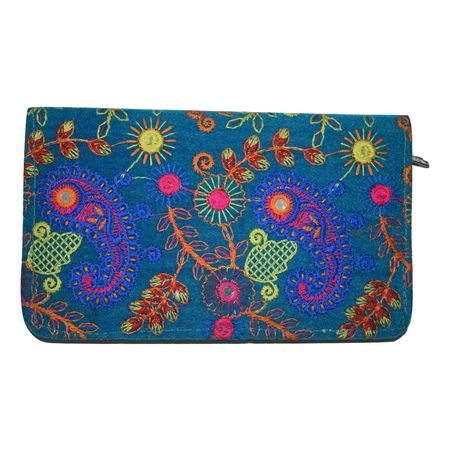 Embroidery Design With Mirror Work Handmade Purse AJ001247