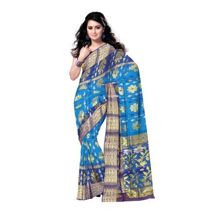 OSSWB117: Bengal Resham Jamdani Saree of Fulia handloom Clusters