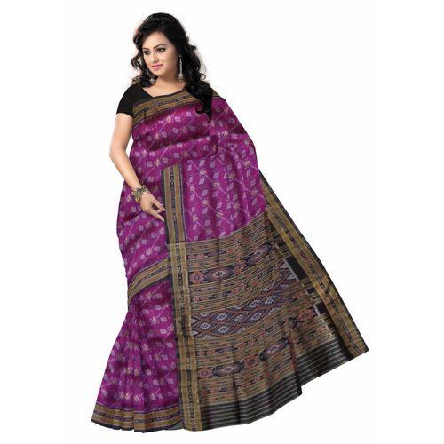 OSS022: Silk Bandha Sari from nuaptana with flower design s.