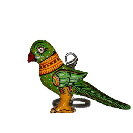 OHW011: Wooden handicrafts Parrot design Key chain.