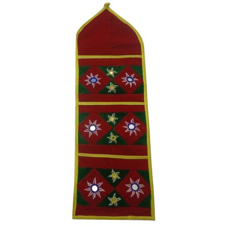 OHA067: Pipili Applique Handcrafted Wall Pocket.