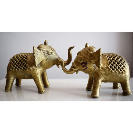 OHD003: Dhokra Elephant to decorate in puja room.