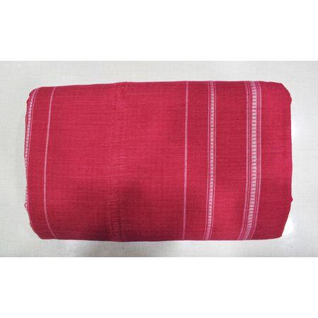 Light Red With White Color Combination Of Handloom Cotton Joda Of Sambalpur, Odisha AJ001747