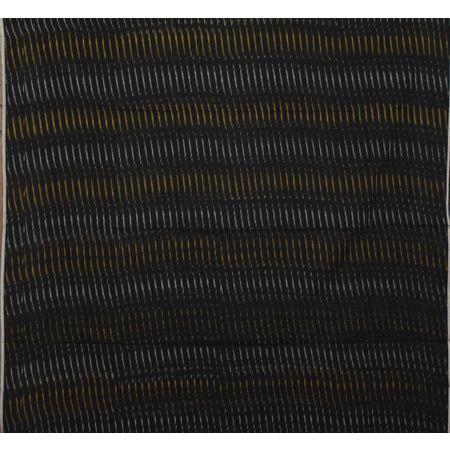 Black with orange Handloom Ponchampally Ladies cotton dress Materail AJ001321