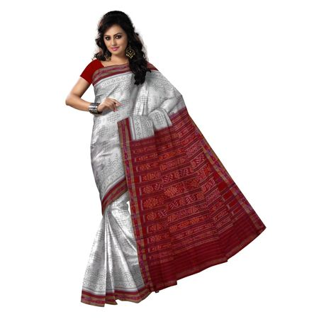 OSS9034: Light Tusser color handloom sambalpuri cotton sarees