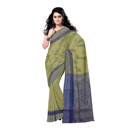 OSSWB052: Ethnic Cotton Saree with Kantha Work