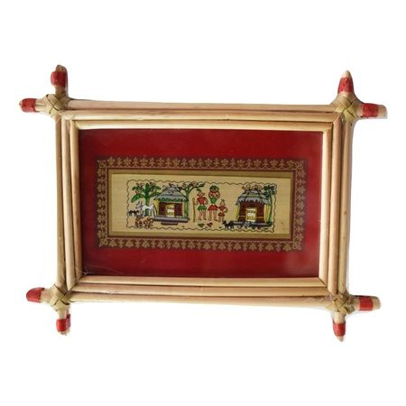 Patachitra Frame Painting Of Gokula Village Pipili, Odisha AJ001683
