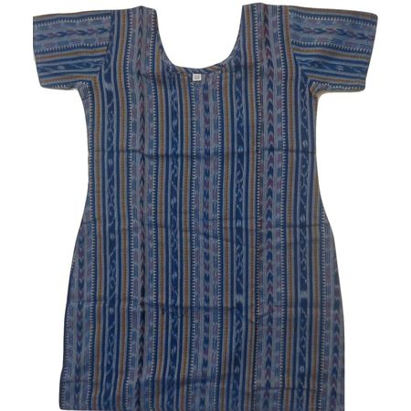 OSS8460: Handwoven blue color cotton kurti for girls.