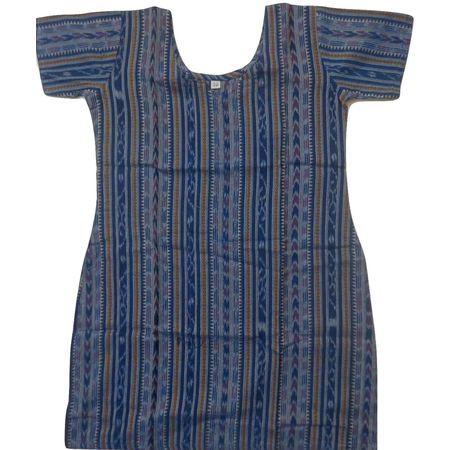 OSS8460: Handwoven blue color cotton kurti for girls.