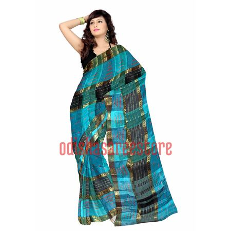 OSSWB081: Check design cotton sarees
