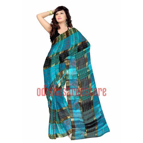OSSWB081: Check design cotton sarees