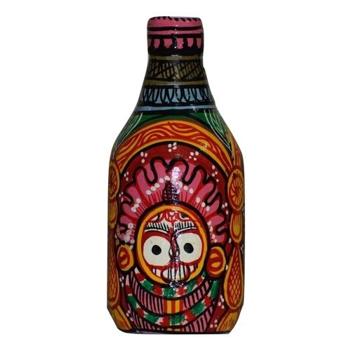 OHP085: Paper mache work of Bottle with Lord jagannath painting.