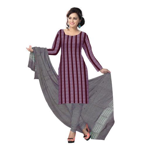 OSS1038: Beautiful Traditional Dark Maroon & Light Maroon Traditional Ikat(tie & dye) cotton Dress Material