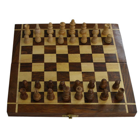 OSSUP006: saharanpur wooden handicraft chess board for Gift