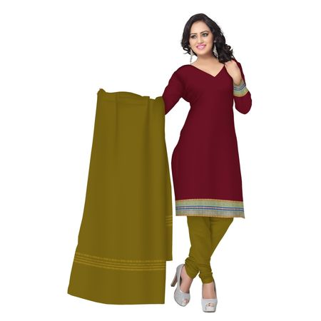OSS6203: Maroon Handloom cotton salwar Kameez of sambalpur