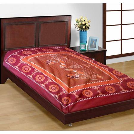 OSS199: Sambalpuri handloom handwoven pasapalli bedsheet