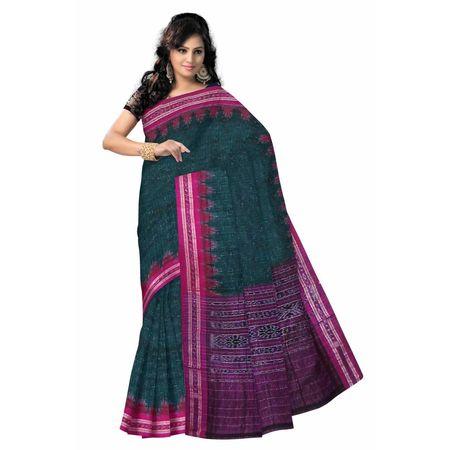OSS7470: Green Handwoven Cotton saree for office wear