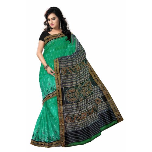 OSS281: Flower design body and border Saree