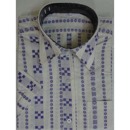 OSS9011: White color Handloom Shirt for office wear