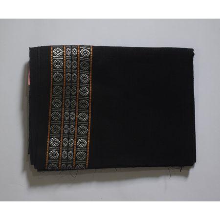 Handwoven Black Sambalpuri cotton Blouse Piece AJ002051