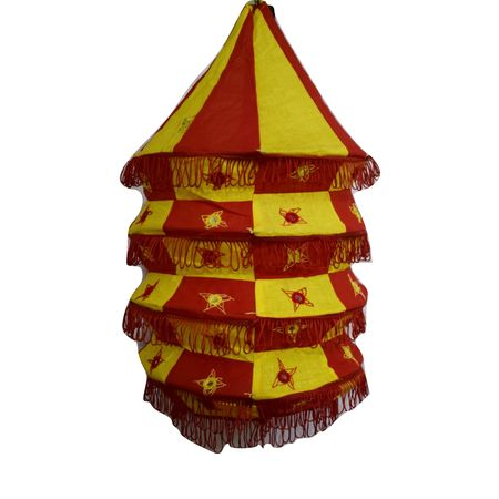 OHA079: Pipili Handcrafted Applique Lamp Shade.