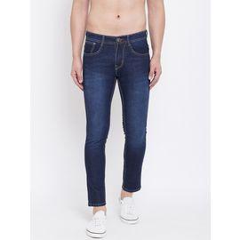 Stylox Men Slim Fit Stretchable Blue Jeans 5204-1294, 36