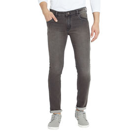 Stylox Men's Slim Fit Mid Rise Stretchable Brown Jeans-DNM-ODGRN-4127, 28