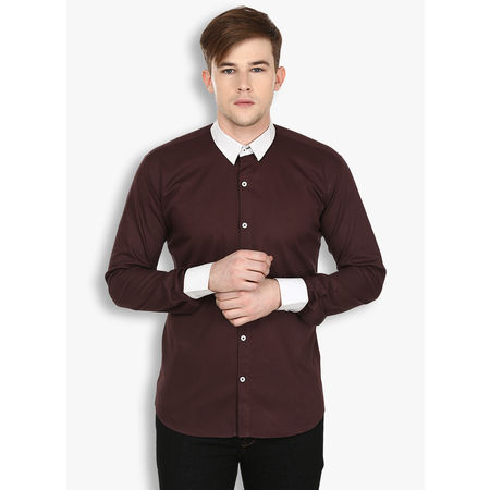Stylox Men s Solid Casual Brown Shirt(SHT029), 44