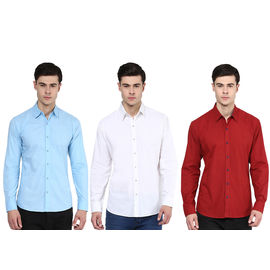 Stylox Pair of 3 Casual Cotton Shirts, l