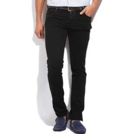 Stylox Slim fit Black Jeans (DNM1003), 28