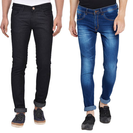 Stylox Men s Multicolor Slim Fit Casual Wear Jeans-DNM-COMBO2-1013-1003, 32
