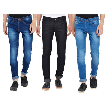 Stylox Men s Pack Of 3 MultiColor Slim Fit Casual Wear JeansDNM-COMBO3-1012-1013-1003, 32