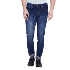 Stylox Men's Premium Dark Blue Mid Rise Cleans Look Stretchable Jeans-DNM-LB-4078, 28